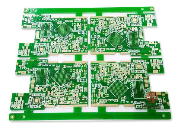 四层绿油PCB线路板